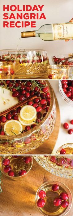 This Sparkling Pear, Apple, and Cranberry White Sangria recipe is known for being delicious, but it's also known for making entertaining easy. Simply whip up a large batch of this festive cocktail and cheers to memories with friends and family!