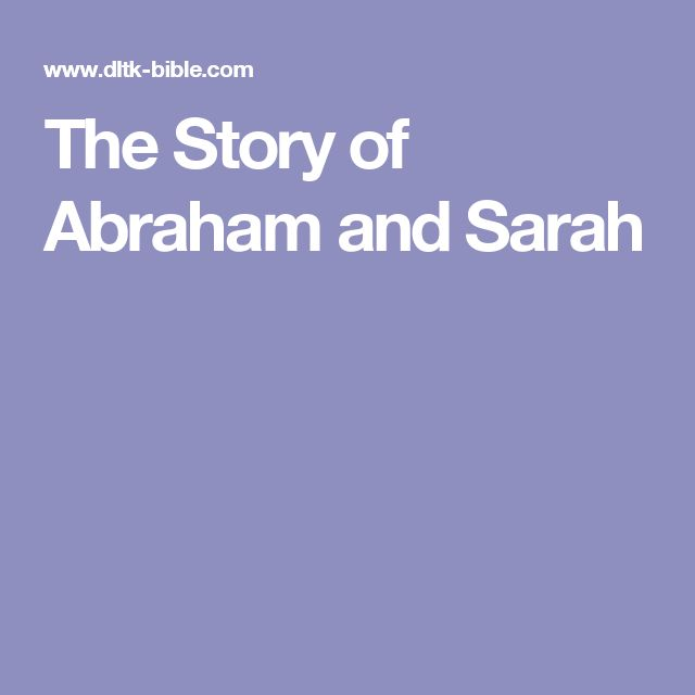 The Story of Abraham and Sarah
