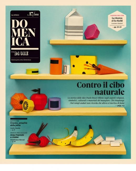Domenica Cover @sole24ore  Natural Food by Happycentro