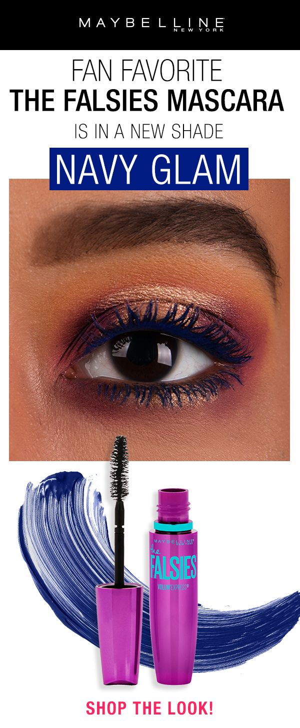 8a196bc47ae Summer trend alert: Blue Mascara! The fan favorite The Falsies Mascara is  now available in a new shade, Navy Glam. Create visible e…