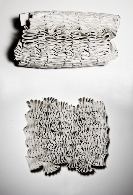 Fabric Manipulation - textured pattern & structured surface creation; textile inspiration // Phuong Thuy Nguyen