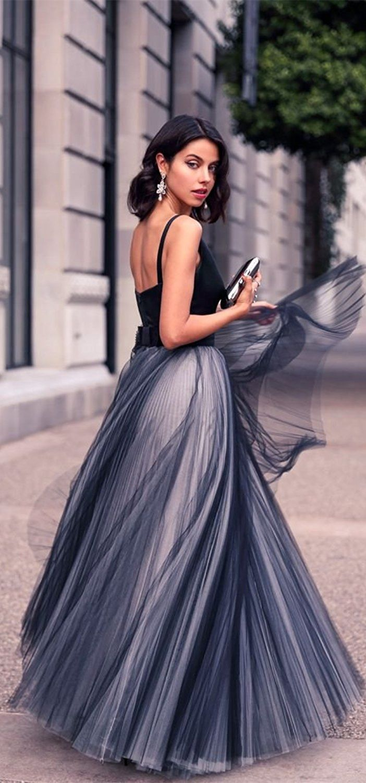 6e424b2334 elegant navy blue v-neck prom dress, fashion a-line navy blue tulle evening  dress