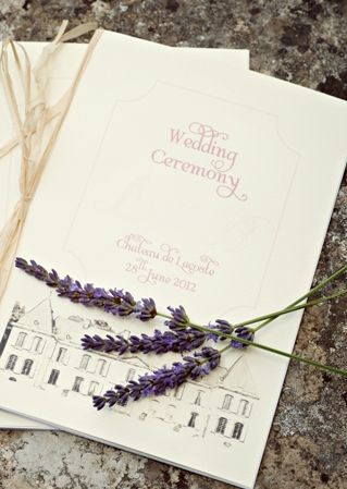 wedding stationery lavender themed  | Photography © - Karen McGowran Photography on French Wedding Style Blog