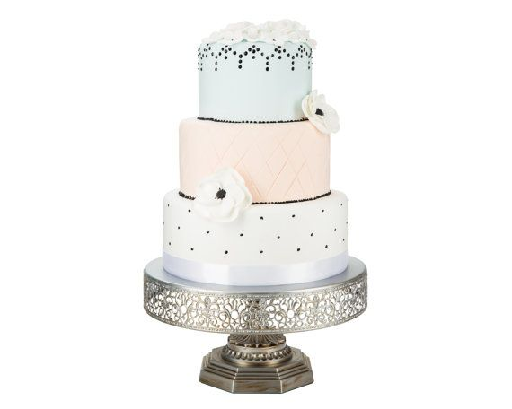 Hey, I found this really awesome Etsy listing at https://www.etsy.com/listing/243633475/silver-cake-stand-12-inch-round-cake