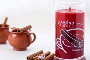 diamond candle - every candle has a ring in it (worth $10, $100, $1000 or $5000) - white elephant gift
