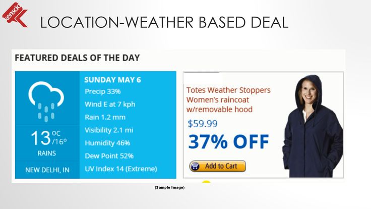 #Realtime #emailmarketing Personalized #email for Weather based deals #ecommerce #dailydeals #marketing