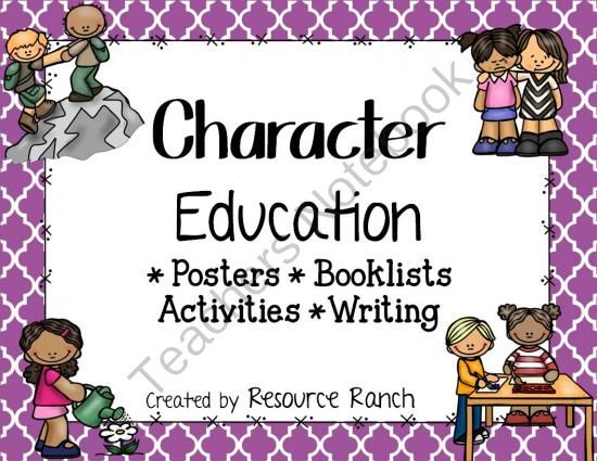 Character Education K-2 - Enter for a chance to win this valuable throughout the year resource! Character Education posters to display, suggested booklists and activities for each trait, and writing pages for students to demonstrate their understanding..  A GIVEAWAY promotion for Character Education Posters-Writing-Activities-Booklists-Awards from Resoure Ranch on TeachersNotebook.com (ends on 8-12-2014)