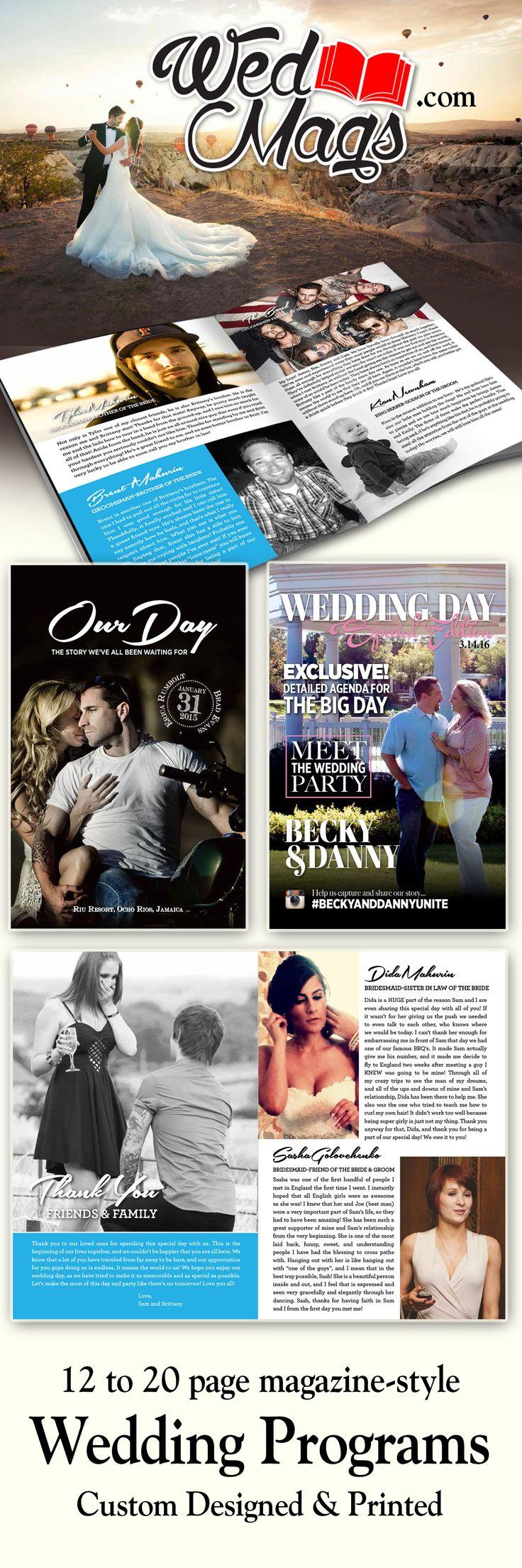We design and print custom Wedding Programs