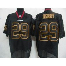 Chiefs #29 Eric Berry Lights Out Black Stitched NFL Jersey