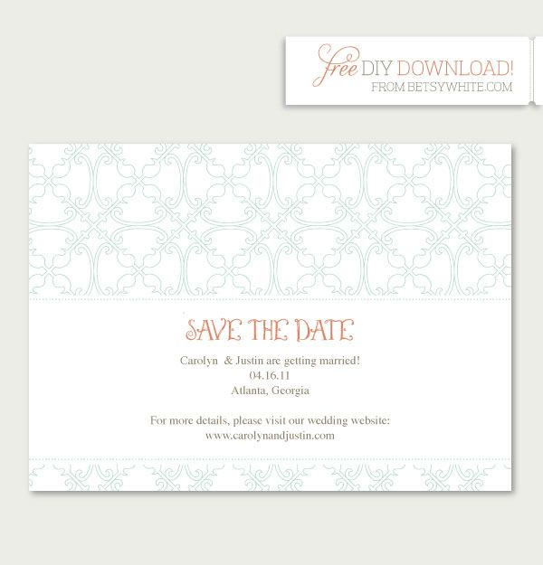 save the date templates free download - 17 best images about free printables on pinterest free