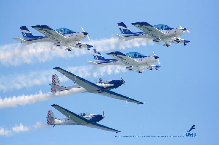 January 2014 - We Fly Team in formation with Blue Voltige at Jesolo European Airshow 2013 - September 1, 2013  Buy Now the Flight Calendar 2014: http://rp9.it/FlightCalendar2014 Contains 12 Amazing Aircraft Photos. The Best Gift for Christmas!