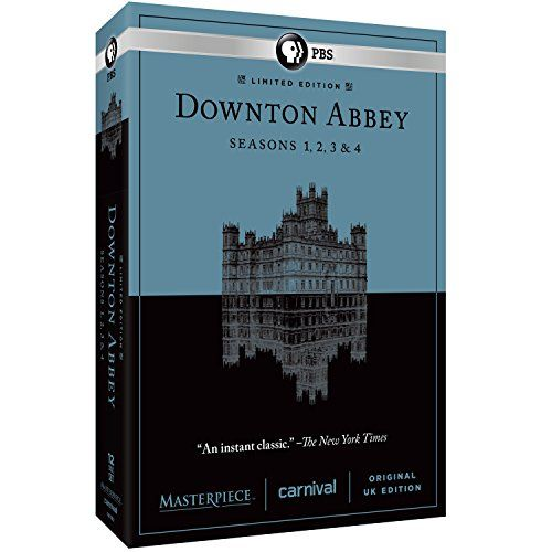 Masterpiece: Downton Abbey Seasons 1, 2, 3, & 4 PBS http://smile.amazon.com/dp/B00KX44P22/ref=cm_sw_r_pi_dp_v.98ub0XQT8AJ