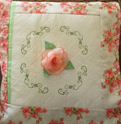 Single Rose Cushion