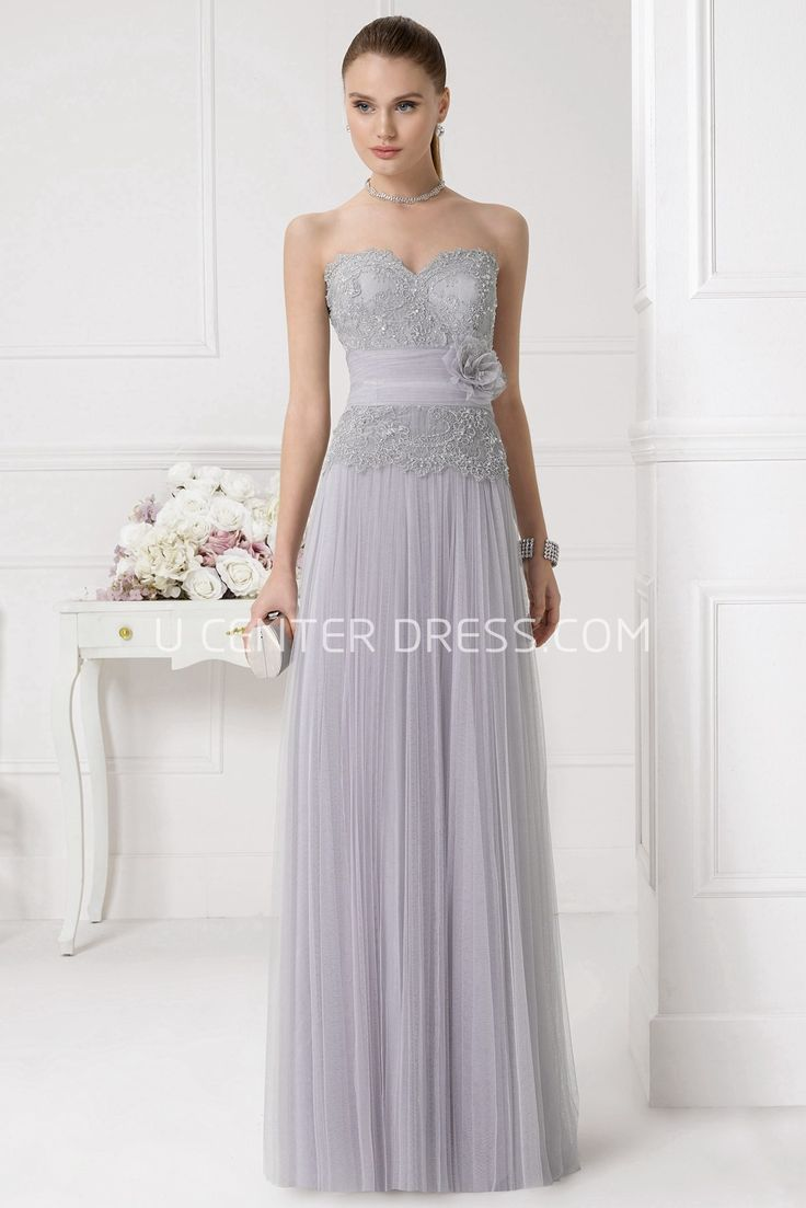 Sale $107.89-Romantic Kelly Grey Strapless Prom Dress with Belt. http://www.ucenterdress.com/romantic-kelly-prom-dress-pMK_300789.html.  Shop for cheap prom dresses, party dresses, night dresses, maxi dresses, little black dresses, junior prom dresses, girls prom dresses, designer prom dresses for sale. We have great 2016 prom dresses on sale. Buy prom dresses online at UcenterDress.com #prom #dress today!