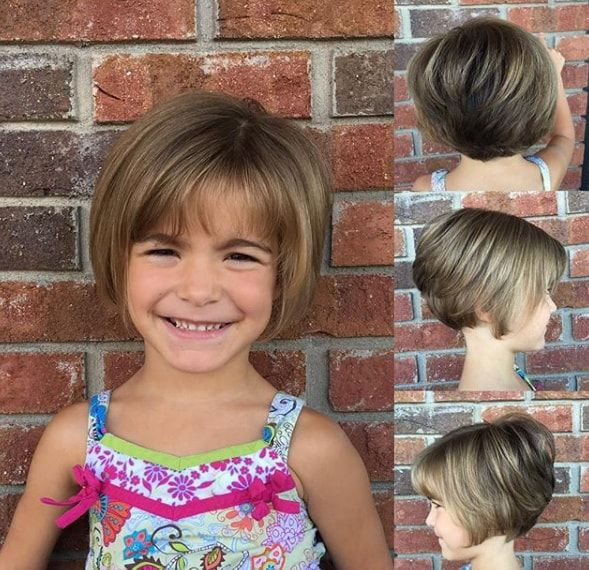 Stacked Bob Haircut With Waves Kids In 2019 Little Girl Haircuts