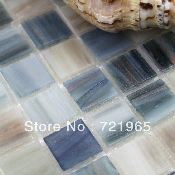 Iridescent glass mosaic tile backsplash IGMT031 blue glass mosaic tiles bathroom wall and floor tile mosaics-in Mosaics from Home Improvement on Aliexpress.com