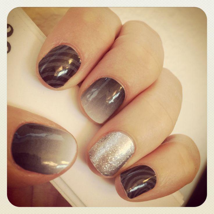 Jamberry Nail wraps #SwayJN #FadeToBlackJN #DiamondDustSparkleJN