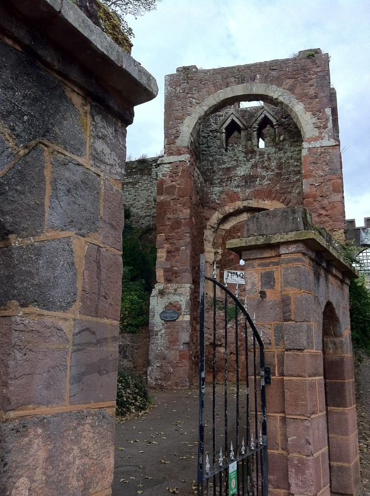 Rougemont Castle, Exeter.  Devon, UK.