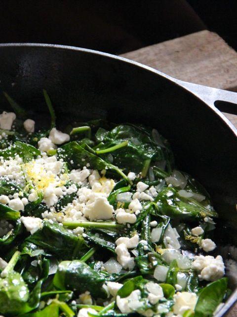 Spinach with Feta & Lemon - from @Alaska Madden Madden Madden from Scratch