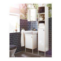 IKEA - TYNGEN, Kast voor wastafel 1 deur, , Stelbare poten geven stabiliteit en beschermen tegen optrekkend vocht.Zeer geschikt voor iedereen met een kleine badkamer omdat de kastelementen slechts 40 cm breed zijn.