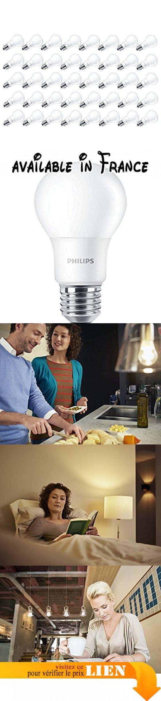 Philips CorePro Ampoule LED non dimmable Cool givré ampoule A60, blanc, 7,5W, E27, Lot de 40. LED de haute qualité lumière-faible coût idéale pour remplacer les ampoules halogènes ou fluorescentes compactes. Créer un environnement parfait, comme les lampes à incandescence ou halogènes. Économisez jusqu'à 90% d'énergie avec technologie LED très basse consommation Philips. Ne changez votre ampoule-dure jusqu'à 15000h. Lumen: 806lumens, rendu