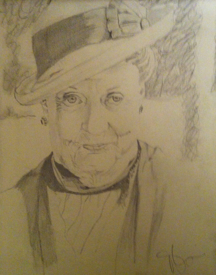 Maggie Smith. Pencil on paper.