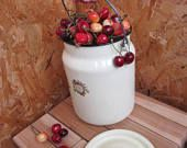 vintage milk can antique milk can soviet enamelware metal milk jug old milk can rustic home decor farmhouse milk pail enamel milk can enamel