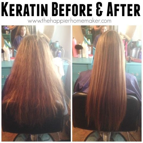 keratin before and after  You can apply Keratin to your hair, flat iron it, and leave it in for three days to get these results.