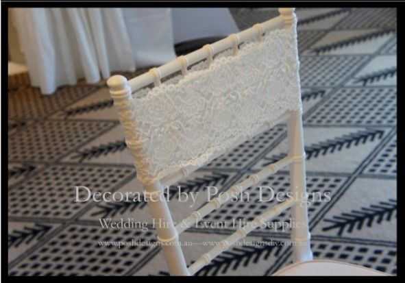 Lace bands - #wedding and #event #theming available at #poshdesignsweddings - #sydneyweddings #countryweddings #southcoastweddings #wollongongweddings #ruffledsashes #weddingsashes All stock owned by Posh Designs Wedding & Event Supplies - lisa@poshdesigns.com.au or visit www.poshdesigns.com.au or www.facebook.com/poshdesigns.com.au #Wedding #reception #decorations #Outdoor #ceremony decorations #Corporate #event decoration #Fundraising event decoration #School #graduations