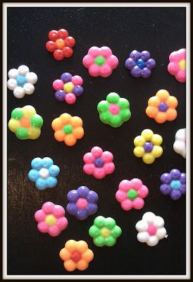 Melted Pony Bead Flower Crafts