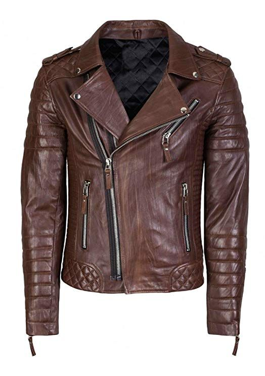 fcdd1b18372b Richline fashions Men's Slim Fit Biker Diamond Quilted Kay Michael Leather  Jacket - 6 Colors at Amazon Men's Clothing store: