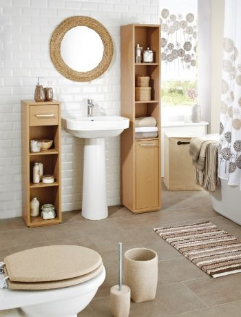 natural colours willow and wicker make for a restful bathroom