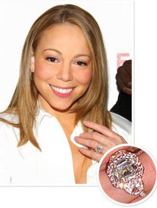Nick Cannon gave Mariah Carey this pink-hued 10.02 carat diamond ring.