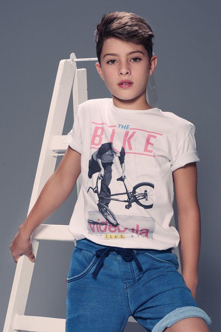 Vide Bula - T-Shirt Estampa Bike - Meninos - Infantil