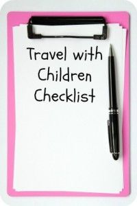 Printable travel with children checklist - A checklist of things to do before traveling with children, from first steps, to one month prior projects, week in advance assignments, day before departure to do's and day zero duties.