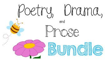 These lessons introduce and teach CCS RL 4.5 Explain major differences between poems, drama, and prose. This Bundle includes 6 individual PowerPoint Picture Presentations Lessons along with corresponding worksheets for each lesson. By buying the lessons together, you receive all lessons at a discounted price.