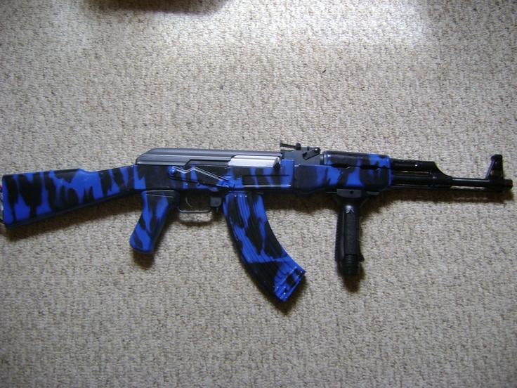 Bien connu blue tiger Airsoft AK47 with grip | Airsofting | Pinterest | Blue  MT42