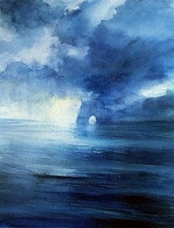 Study in Blue Watercolor by Katherine Kean - love this...