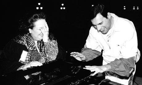 Freddie Mercury and the mezzo-soprano Montserrat Caballé