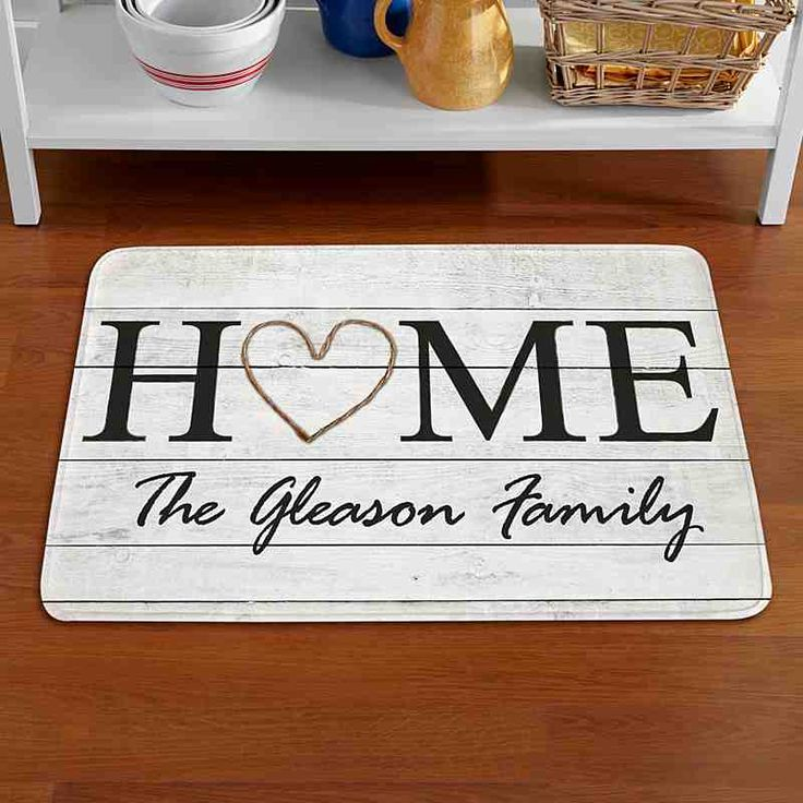 A Personal Creations Exclusive! Extend guests a warm, old-fashioned welcome with our rustic doormat.