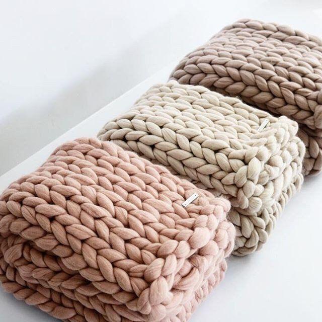 Chunky Merino Runner - Blush #Bedding #Bedroom #Blanket
