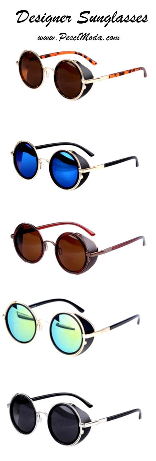 Vintage Unisex 50s Round Sunglasses. Material: alloy, resin, 10 Types available…
