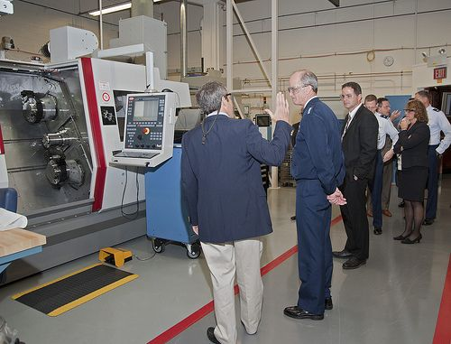 (Posted from 5axismachiningchina.com)  Some cool multi axis machining images: Gen. Chilton Visits KCP  Image by NNSANews KCP engineer Don Watson demonstrated a Multi-axis, Mill-turn machine to General Chilton, Commander, U.S. Strategic Command during this plant visit on Oct. 8, 2010.    Read more on http://www.5axismachiningchina.com/cool-multi-axis-machining-images/