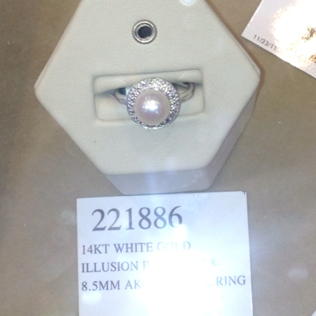 Costco pearl and diamond ring Wish List Pinterest