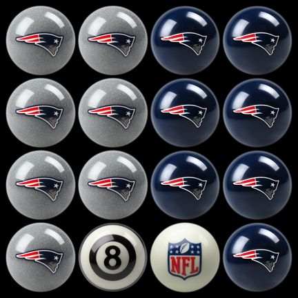 """New England Patriots NFL Home vs. Away Billiard Balls Full Set (16 Ball Set) by Imperial International: """"Play ball with your… #onlinesports"""