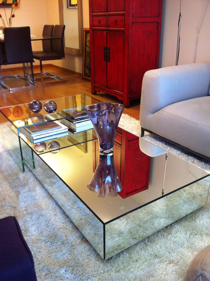 Mesa espejo moderna sala comedor pinterest mesas for Espejos para mesa