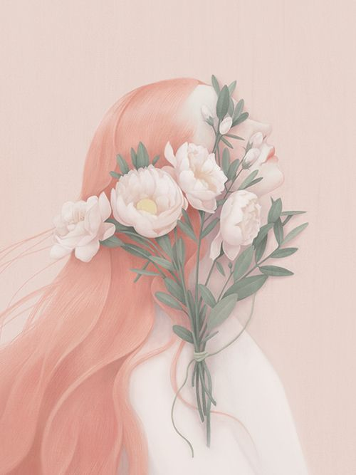 Portrait - Hsiao Ron Cheng - LOVE! A series of this artists work might be great in my future, uber-girly, ginormous closet :)