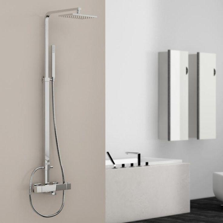 steinberg serie 135 160 brauseset komplett mit thermostatarmatur - Badezimmer Etagere