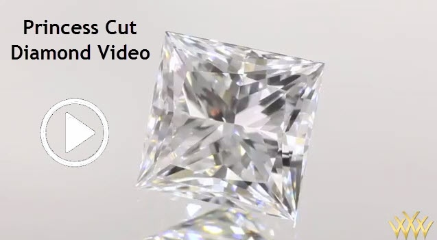 Princess Cut Diamond Video - Square to slightly rectangular in shape, the princess cut features four pointed corners and a brilliant style facet arrangement that if properly crafted can deliver light performance similar to the round brilliant.