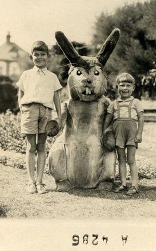 wha?Rabbit, Imaginary Friends, Creepy, Halloween Costumes, Vintage Photos, Vintage Photographers, Easter Bunnies, Donnie Darko, Old Photos